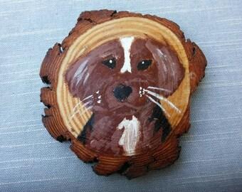 Cute Beagle Puppy Coaster painted