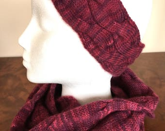 Qiviut blend infinity scarf and headband