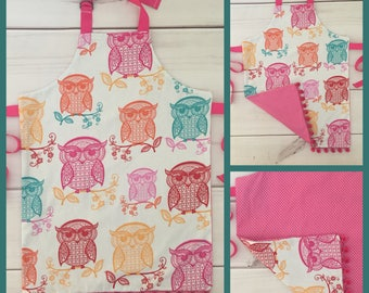 Reversible Youth - Toddler Owl Apron