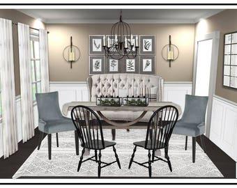 FULL ROOM E Design Online Interior Dining Room Help