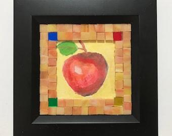 Glass mosaic photo frame