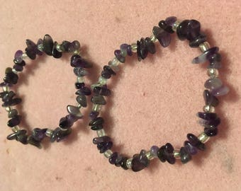 Amethyst handmade bracelet