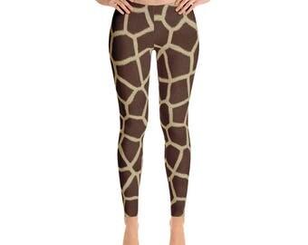 Giraffe Leggings - Giraffe Costume - Halloween Costume - Womens Leggings - Giraffe Tight - Workout Leggings