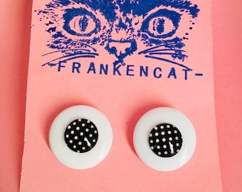 Frankencat Bold Spotty 50's Earrings