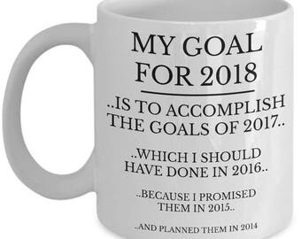 New Year Mug, New Years Resolution, New Years Mug, Funny Coffee Cup, 2018 Mug, 2018 New Years, 2018 Resolution, Brand New Mugs, Perfect Gift
