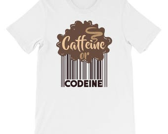 Caffeine or Codeine Short-Sleeve Unisex T-Shirt