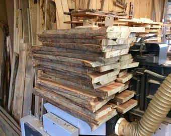 Plum planks with wane/bark