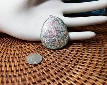 Smokey blue pendant