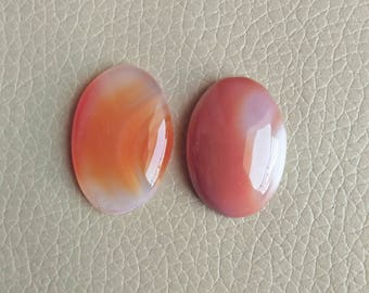 Natural 02 Piece Beautiful Onyx Banded Gemstone, Pendant Onyx Banded Stone, Banded Stone Weight 64 Carat and Size 31x22x7, 30x21x8 MM Approx