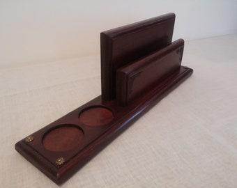 Old English style salt & pepper napkin holder,restaurant table organiser.