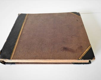 Antique Victorian Photo Album With 36 Photos