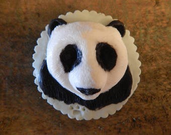 Hand carved Panda bar soap