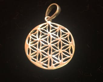Flower of Life, 925 Silver Pendant