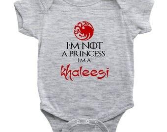 I'm Not A Princess I'm A Khaleesi GoT Fan Onesie