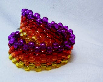 Fiery Kandi wrap around bracelet