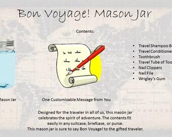 Bon Voyage! Mason Jar