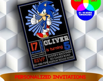 Sonic the Hedgehog Invitation, Sonic Invitation, Sonic Birthday, Sonic Party, Sonic Card, Sonic Printable,