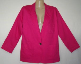 Evan Picone Petites Blazer Pink ILCWU Tag Vintage 80s Size 14