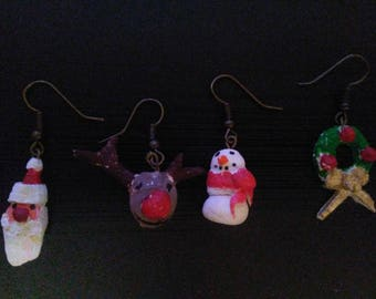 Hand crafted Christmas earrings