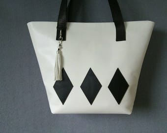 Leather shopper, leather bag, design bag, handmade