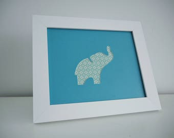 Elephant Silhouette Hand Cut Artwork, Unique and Individual Wall Art, Beth and Bills Handcrafted