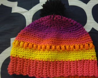 Rainbow fitted hat