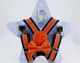 Kids Leather Suspender Set