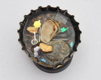 Orgonited Magnet, Shell, Stones and Watchworks