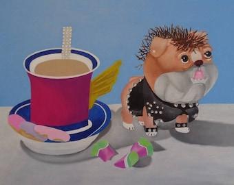 Bulldog and teacup