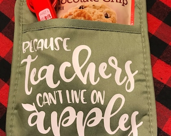 Gifts for teachers / hot pad / thank you for making me one smart cookie/ teachers cant live on apples alone / personalized teacher gift