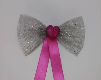 Silver tulle ribbon