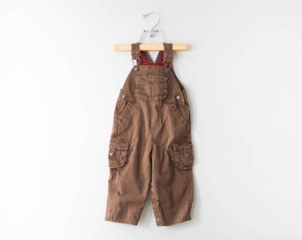 Vintage Brown Toddler Overalls // Classic Brown Osh Kosh Toddler Overalls // Size 18 Months // 100% Cotton