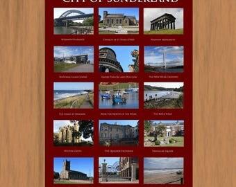 City of Sunderland. A3 Poster Print