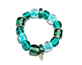 AISHA - Murano Glass, Hand-Made Bracelet