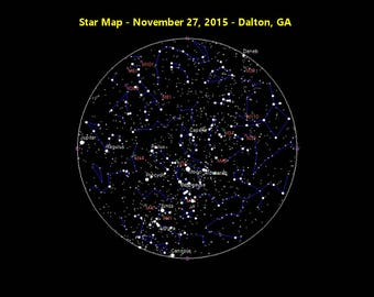 Star Map of a Moment