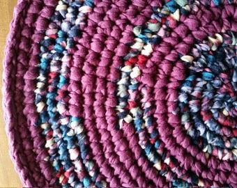 Ultra Violet Rug Purple Rag Rug Purple Crochet Rug Purple Rug Ultraviolet Crochet Rug