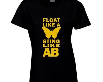Float Like a Butterfly, Sting Like AB - Ladies Pittsburgh Football Fan Tee