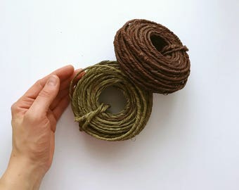 Grapevine Wire 78 feet/21m of Vine Wrapped Rustic Craft Wire, wedding crows, grapevine Wire wreaths, woodland
