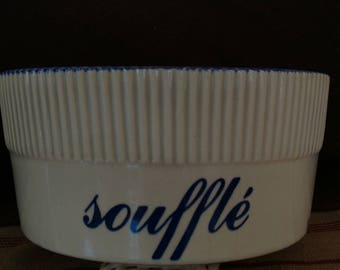 Baldelli Cobalt Blue and White Souffle Dish- Made in Italy