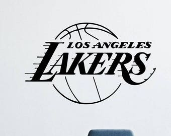 Angeles Lakers Wall Decals Decor Vinyl Stickers Basketball Sport Basketball Club Logo GMO1851
