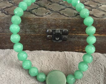 Jade necklace / jade choker / true jade stone