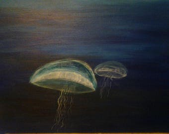 Acrylic painting - jellyfish