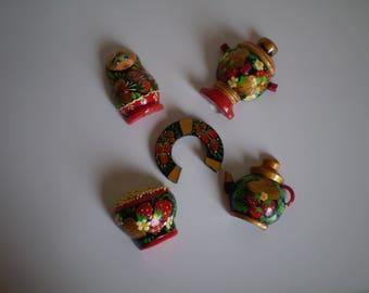 mini magnets Khokhloma