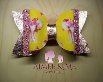 Pink Elephant Bow