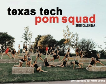 Signed 2018 Texas Tech Pom Squad Calendar