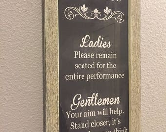Bathroom Etiquette Chalkboard Sign
