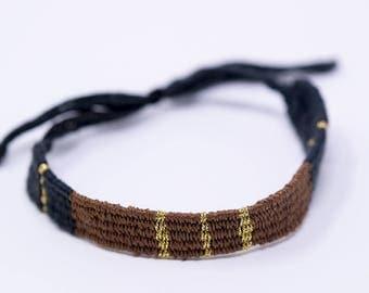 Brown and grey bracelet