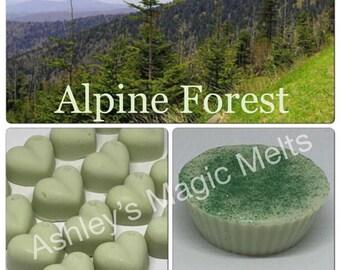 3 alpine forest scented soy wax melts, clean wax melts, fresh scented melts, pine wax melts, strong melts, cheap wax melts, best melts