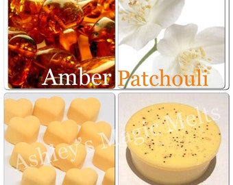 3 amber patchouli jo malone soy wax melts, designer dupe melts, strong wax melts, cheap melts, wholesale wax melts, scented gifts for her