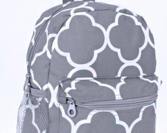 Grey&White Mini Backpack